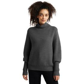 Icebreaker Seevista Funnel Neck Sweater Women, grijs